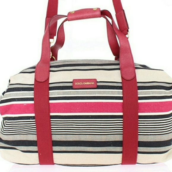 ... Dolce Gabbana bag  cheaper 8e5d3 f3d68 DG Multicolored Striped Boston  Bag ... 78c3b3b67c